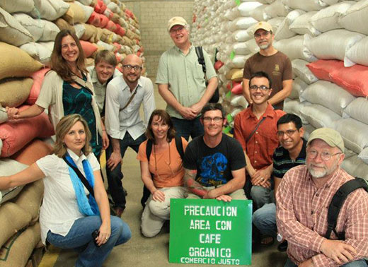 Cafe Campesino staff tour the facilities of a Fair Trade coffee producing partner in Guatemala